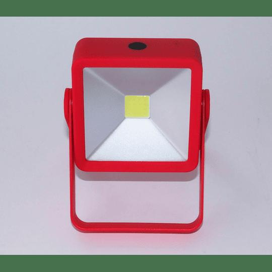 Foco Led Ajustable/magneto-rojo