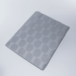 Mantel algodon/lino Gris jack rectangular
