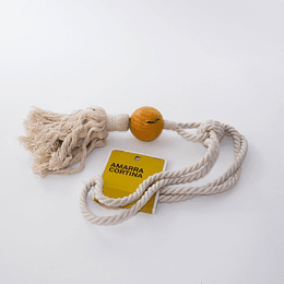 Amarra Cortina Algodón/bola madera