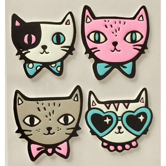 Set parches adhesivos gatos