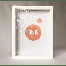 Marco de fotos 10x15 blanco