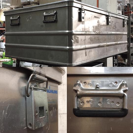 Caja metálica grande acero inox