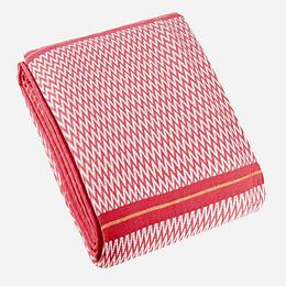 Cubrecama algodón 170x250 1,5 plaza rojo casaideas