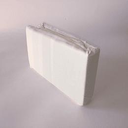 Sabana bajera microfibra 1,5 plaza blanca