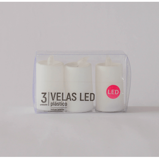 set 3 velas led