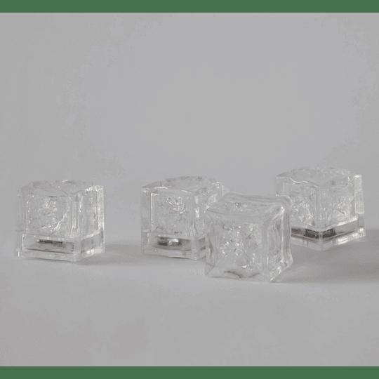 Cubos con Luz para bar set 4