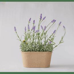 Jardinera de Lavanda artificial