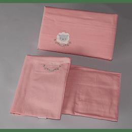 Set Sábanas de bebé rosadas algodón