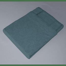 cortina blackout tela con recubrimiento barra azul