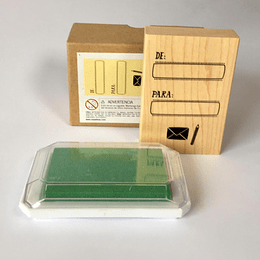 set tinta de para verde
