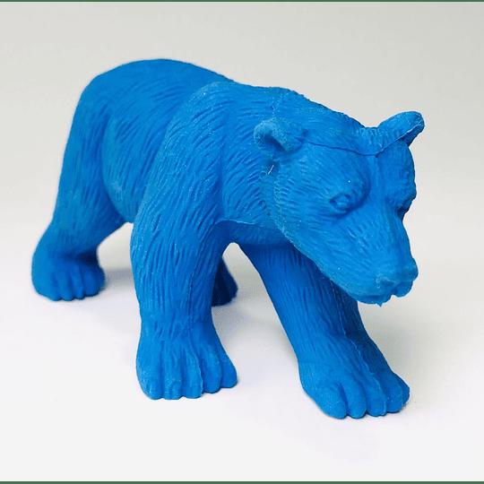 Goma de borrar oso azul