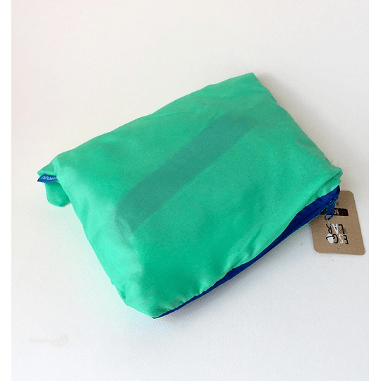 bolso plegable verde / 52cm x 30cm diámetro