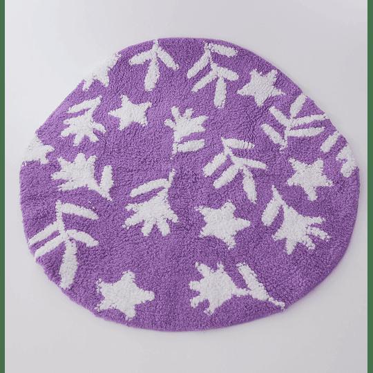 Alfombra para Baño Circular Lila design