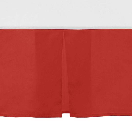 Faldon cama rojo king