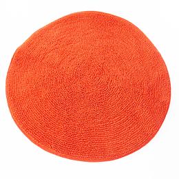 Alfombra Baño Circular Anaranjada