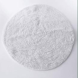 Alfombra Baño Circular Blanca