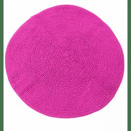 alfombra de baño redonda fucsia