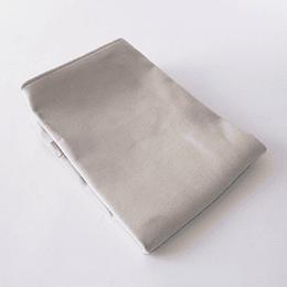 Funda Cojín 45x45 Velvet textura Crudo
