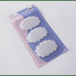 Jabonera ventosas Set 3 nube