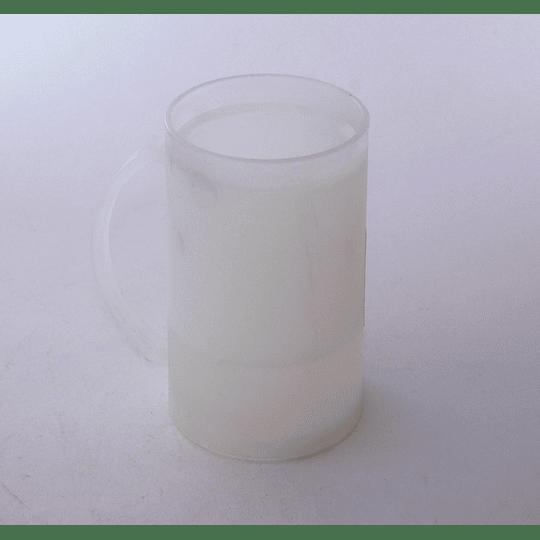 Vaso Schop Plástico Refrigerable blanco