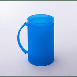 Vaso Schop Plástico Refrigerable azul