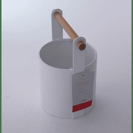 Porta Utensilios Metal-madera