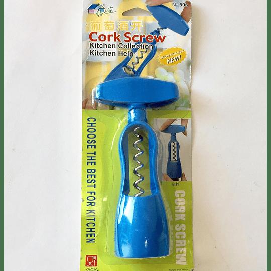Sacacorchos azul