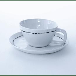 Taza Café + Plato Linseg 125ml