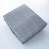 Set 2 Cortinas Poliéster Textura Gris Oscuro Barra