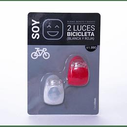 2 Luces Bicicleta Blanca y Roja