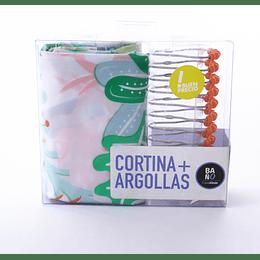 Cortina + Argollas Baño