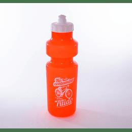 Botella de Agua Deportiva Plástica Naranja