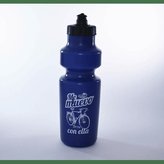Botella de Agua Deportiva Plástica Azul