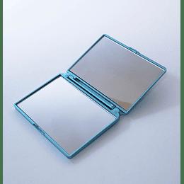 Espejo Doble de Bolsillo Celeste