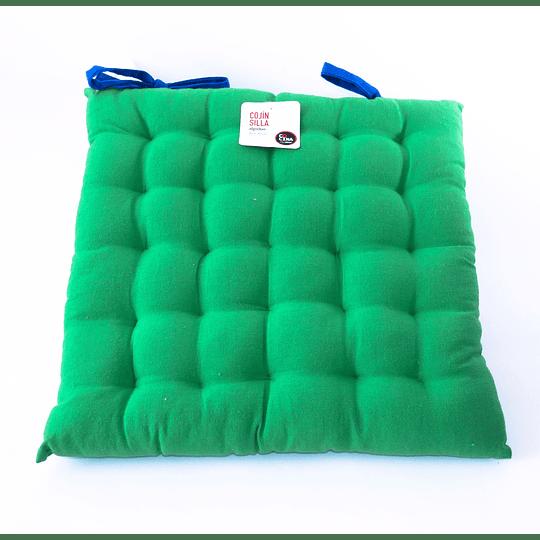 Cojín Silla Algodón Verde