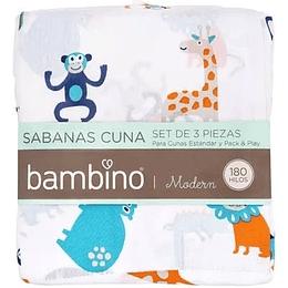 Set sabanas cuna 70x140 animales Bambino