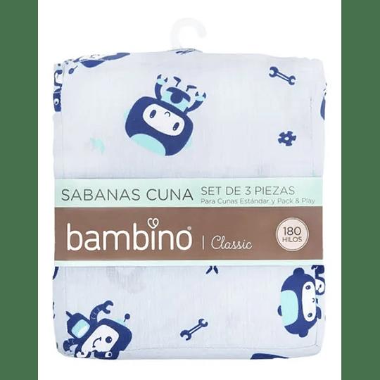 Set sabanas cuna 70x140 astronautas Bambino