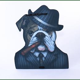 Bulldog Capone Adorno Portallaves Armable