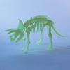 Esqueleto de Tricératops Armable Brilla en la Oscuridad
