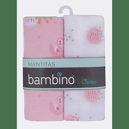 Mantitas de bebe rosado Bambino