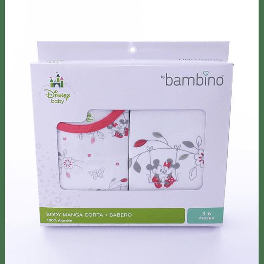 Body Manga Corta + Babero - Disney baby  by Bambino 6-9meses