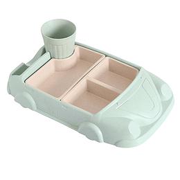 Plato auto verde agua