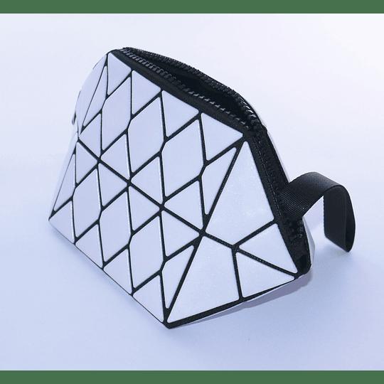 Cosmetiquero Geométrico Blanco