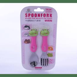 set cuchara y tenedor infantil