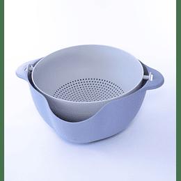 Bowl Colador Desmontable Celeste