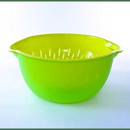 Bowl colador grande verde amarillo