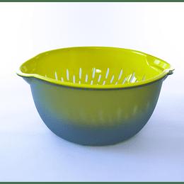 Bowl colador grande gris amarillo
