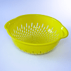 Bowl colador grande amarillo celeste