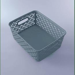 Canasto Plástico Diseño 25x20x10