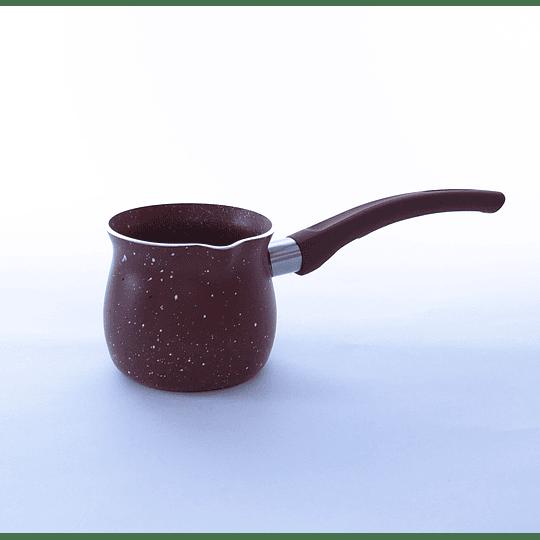 Olla / Jarro para café turco enlozada 400ml Burdeo